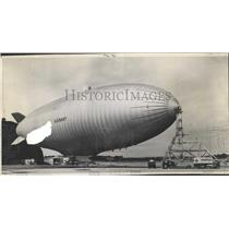 1958 Press Photo 3W Navy Blimp Emerges - RRX99095