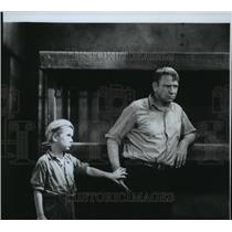 1931 Press Photo Actors Jackie Cooper and Wallace Beery - spp45008
