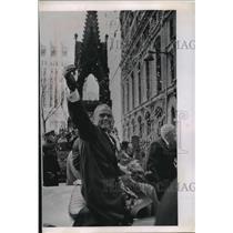 1962 Press Photo John Glenn and Others at Parade in New York City - mjb29025