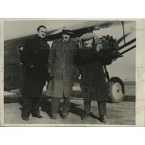 1931 Press Photo Major George Witten, Casey Jones, Jimmy Hare Before Flight