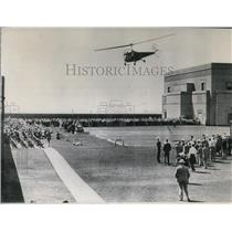1949 Press Photo Helicopter exhibition - spw11580