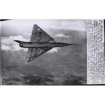 1955 Press Photo Britain's Fairey Delta 2 jet is powered by Rolls Royce turbojet
