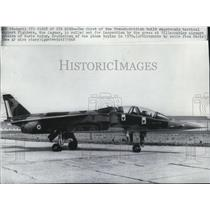 1968 Press Photo French-British supersonic tactical support fighter plane Jaguar