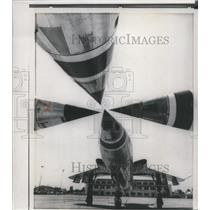 1959 Press Photo Supersonic Republic F-105 Thunderchiefs at Nellis force base
