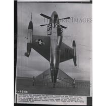1954 Press Photo New Navy airplane designed to take off in vertical position