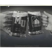 1883 Press Photo Marquette and University of Wisconsin-Milwaukee Beer Mugs