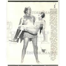 1932 Press Photo James Pierce & wife Joan, who star as Tarzan & Jane - mjb32333