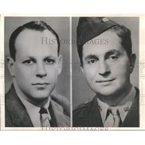 1943 Press Photo William Schumann, Ira Wolfert Win 1942 Pulitzer Prize