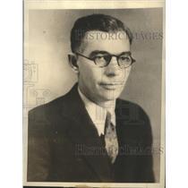 1934 Press Photo Warden J McCauley of Walla Walla Prison in Washington