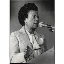 1970 Press Photo Politician and Educator, Dorothy Hollingsworth Giving a Speech