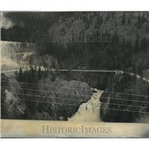 1965 Press Photo Moyie River Canyon below Moyie Canyon Bridge in North Idaho