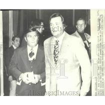 1975 Press Photo New Orleans Saints football's Hank Stram & John Mecom Jr.