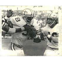 1971 Press Photo New Orleans Saints - Tony Baker Races Scores Touchdown