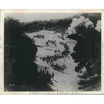 "1916 Press Photo Troop Movement Scene from ""The Birth of a Nation"" - mjx36065"