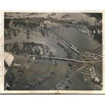 1938 Press Photo Biggest river floods farmlands in Aitkin, Minnesota - mjx36012