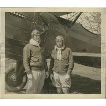 1930 Press Photo Major Milling, Major Arnold celebrate aerial reunion