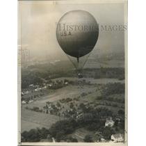 1959 Press Photo Balloon Club of America high above Pennsylvania countryside