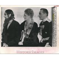 """1933 Press Photo Ethel, Lionel, and John Barrymore in """"Rasputin and the Empress"""""""
