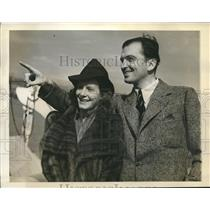 1940 Press Photo Brit actor John Loder & wife, French actress Micheline Cheirel
