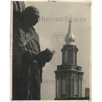 1980 Press Photo Bienville Monument - Statue of Father Anastase Douay