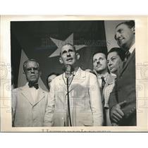 1944 Press Photo Dr Grau San Martin new Cuban President makes a speech