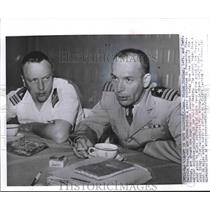 1960 Press Photo Victor Prather and Malcolm Ross, Press conference in Florida