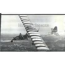 1969 Press Photo Jim Bergo Flying 1916-model Curtis Aircraft - nox06728