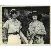 1934 Press Photo Mrs William Robinson Arrives in Balboa on USS Destroyer Hale