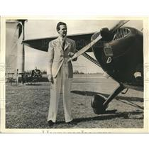 1940 Press Photo Robert Sweeny Takes Solo Flight from West Palm Beach Airport