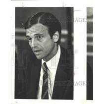 1987 Press Photo Frank Lorenzo, airline executive - hca01677