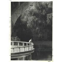 1980 Press Photo Peace and Quiet at Allen's Landing on Buffalo Bayou, Houston