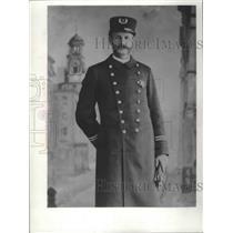 1856 Press Photo Milwaukee Policeman in Uniform, Historic - mjb43989