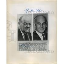 1962 Press Photo C.R. Smith & Malcolm MacIntyre Announce Merger of Airlines