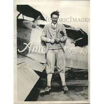 1930 Press Photo Aviator Frank Goldsborough to start 20,000 mile flight in UAS