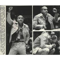 1976 Press Photo Buffalo Braves basketball coach, Jack Ramsay, during a game
