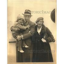 1933 Press Photo Helen Hayes and Charles MacArthur with Daughter, Mary in NY.