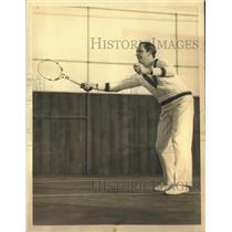 1933 Press Photo Frederic March Plays Tennis While Not on the Set of a Movie