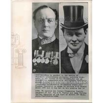 1907 Press Photo Sir Winston Churchill in Military Uniform and at Wedding