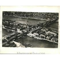 1940 Press Photo Mass River in Rotterdam Scene of German-Dutch Fighting