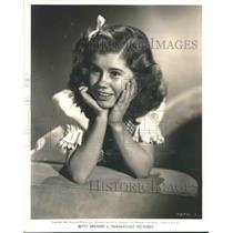 1940 Press Photo Actress Betty Brewer at Age Thirteen - nox10757