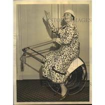 1933 Press Photo Actress Screen Star Marie Dressler Resting in San Francisco CA
