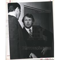 1973 Press Photo Special Prosecutor, C. Bruce Stratton of Liberty, Artesia Hall
