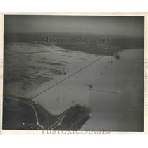 1950 Press Photo Bonnet Carre Spillway - Aerial View, Mississippi River