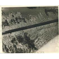 1937 Press Photo Aerial View of Bonnet Carre Spillway, Louisiana - nox11243