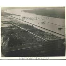 1937 Press Photo Aerial View of Bonnet Carre Spillway, Louisiana - nox11244