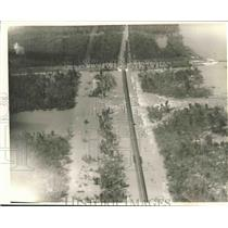 1937 Press Photo Bonnet Carre Spillway, Aerial View, Showing Trees - nox11245