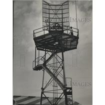 1953 Press Photo Steel Radar Tower at Mitchell Field Airport, Milwaukee