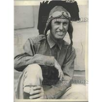 "1927 Press Photo Art Goebel, Pilot of ""Woolaroc"" in Honolulu - mjx38598"