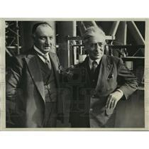 1931 Press Photo French Aviation Engineers M. Antoine Odier and M.Bessiere