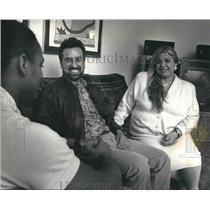 1991 Press Photo Oscar Mireles and Gabriela Fuentes, United Community Center.